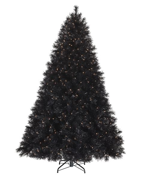 black and yellow christmas tree tuxedo black artificial tree treetopia