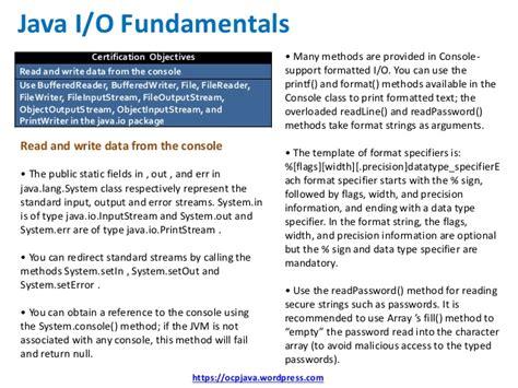 java 8 datetimeformatter pattern ocp java 8 exam ocpjp 8 quick reference card