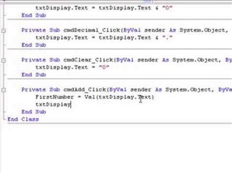 coding in visual basic for calculator 5 3 2 creating a calculator in visual basic part two