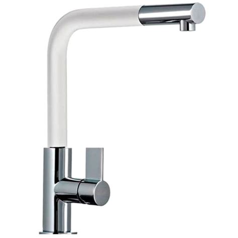 White Kitchen Sink Taps | franke neptune pull out spray chrome white kitchen sink