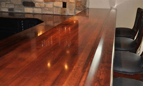 cherry wood bar top designed by a