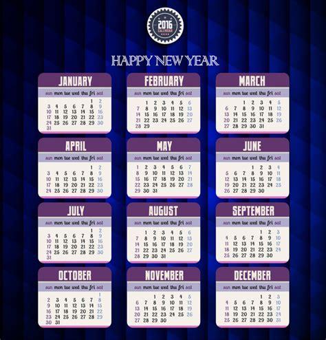 illustrator calendar template free 2016 calendar template illustrator
