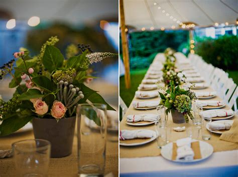 wedding flower pot centerpiece ideas potted plant wedding centerpieces once wed