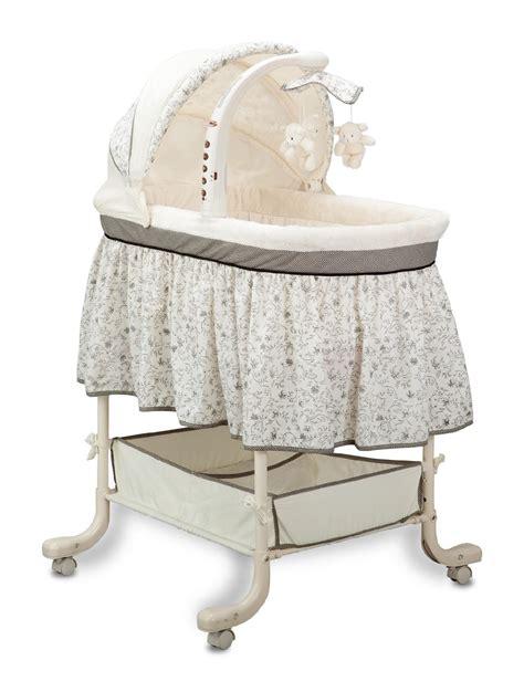 simmons slumber time toile gliding bassinet baby