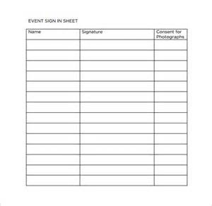event sign in sheet template sle event sign in sheet 9 documents in pdf word