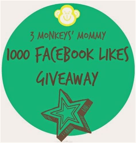 Facebook Giveaway Picker - 3 monkeys mommy 1000 facebook likes giveaway