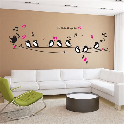 heart wall stickers for bedrooms birds sing song music heart wall stickers living room