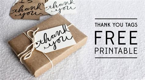 Thank You Card Tag Template by Bells And Whistles Thank You Tag Printable