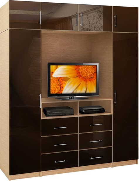 Wardrobe With Tv Unit by Aventa Wardrobe Tv Unit Bedroom Espresso 25806 Jpg