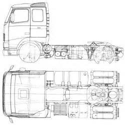 Volvo Truck Drawings Car Blueprints Volvo Fh16 Air Ride Blueprints Vector
