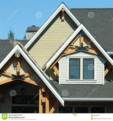 house peak designs home exterior roof details royalty free stock images image 30165049