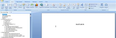 membuat daftar isi otomatis  ms word  lengkap