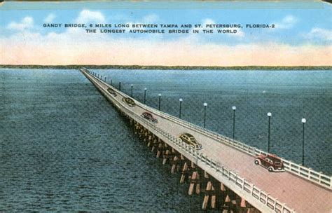 St Petersburg Fl Court Records Florida Memory Gandy Bridge Spanning Ta Bay Between St Petersburg And Ta