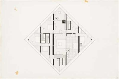 Houses Floor Plans Pictures Working It Out On John Hejduk S Diamond Configurations