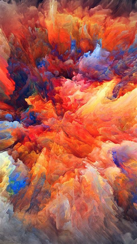vq color explosion red paint pattern soft hd wallpaper