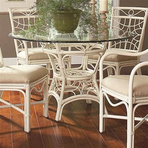 braxton culler  tropical rattan dining table