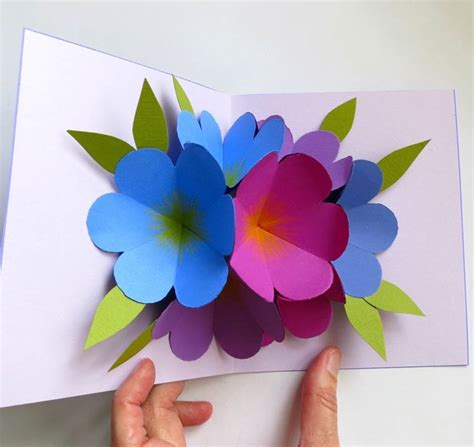 Origami Pop Up Flower - fiori di carta fai da te fiori di carta come