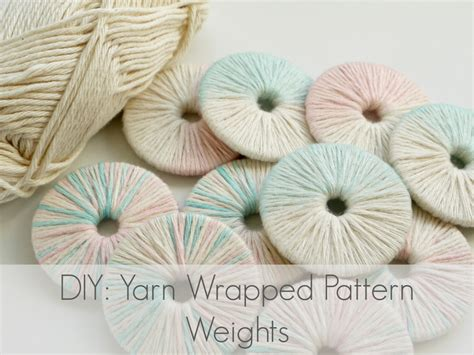 pattern weights uk diy yarn wrapped pattern weights makery