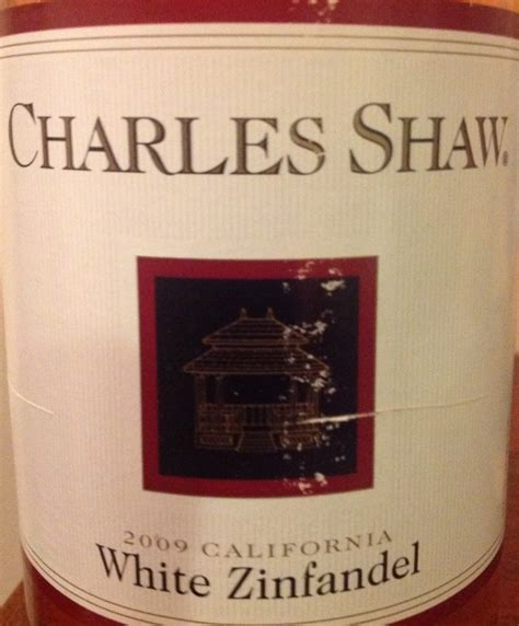 Definition White Zinfandel by 2009 Charles Shaw White Zinfandel Usa California