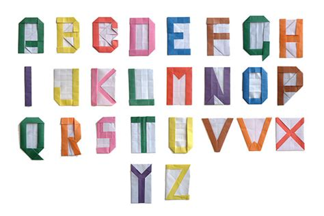 origami alphabet back to school 6 diy alphabet projects handmade