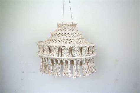 70s Macrame - 70s macrame hanging lantern