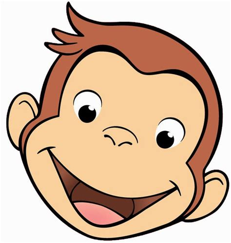 curious george face printables ecoleeko curious george diy birthday party invitations