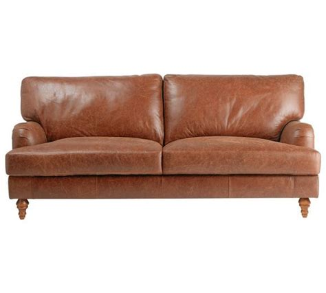 leather sofas argos buy heart of house livingston large leather sofa tan at