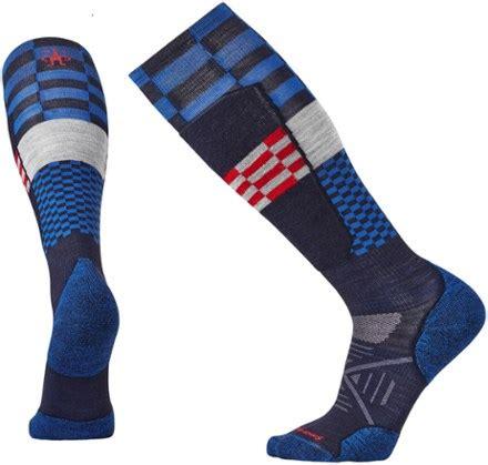 pattern elite socks smartwool phd ski light elite pattern socks at rei