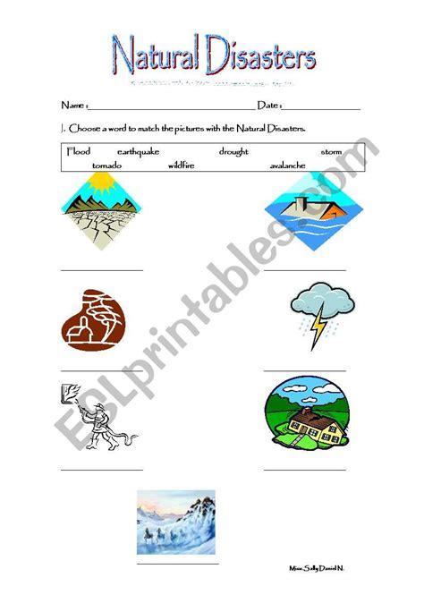 natural disasters esl worksheet by salita30