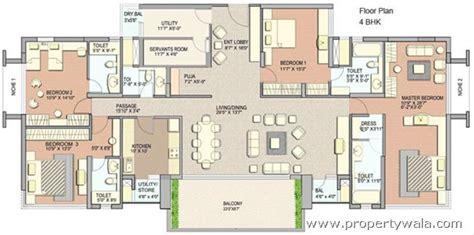 home plan design 4 bhk lodha grandeur prabhadevi mumbai apartment flat