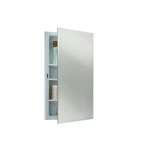 16 x 26 recessed medicine cabinet shop jensen horizon 16 in x 26 in rectangle recessed