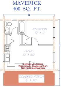 400 Sq Ft Maverick Plan 400 Sq Ft Cowboy Log Homes