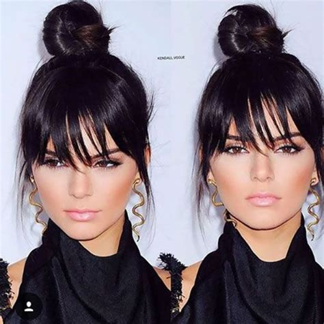 ponytail for a less fat face 25 hairstyles to slim down round faces fake bangs