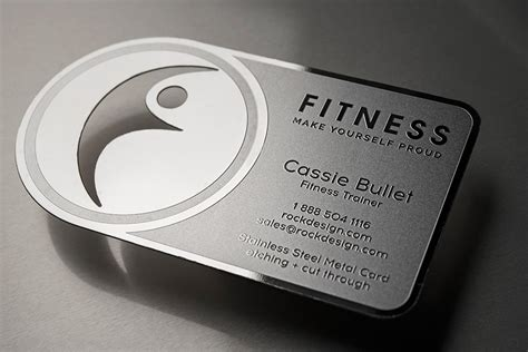 fitness business card template free innovative stainless steel personal trainer business