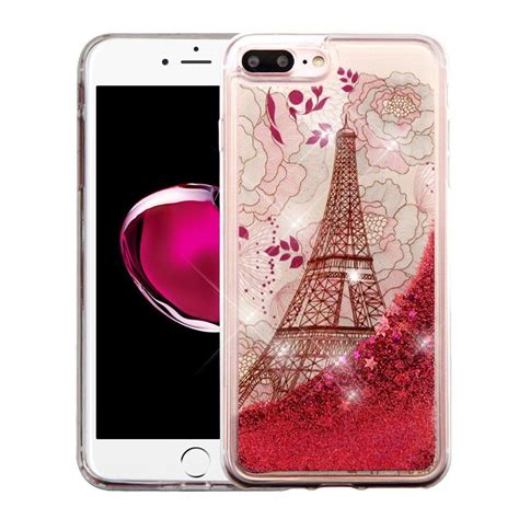 iphone 8 plus liquid glitter waterfall fusion protective hybrid tpu gel bumper