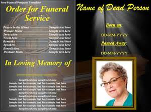 funeral templates free downloads funeral program template 30 free documents in