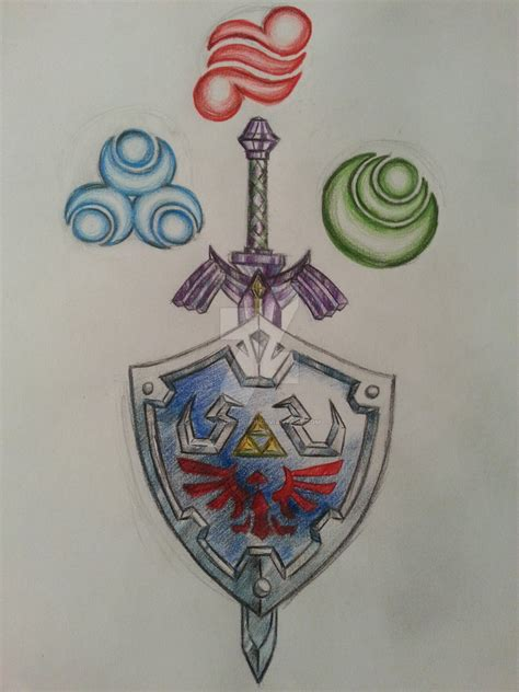 legend of zelda tattoo by dragonkitteh on deviantart