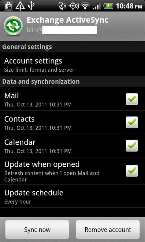 android sync settings how to configure exchange activesync settings in android devices step by step with screenshots
