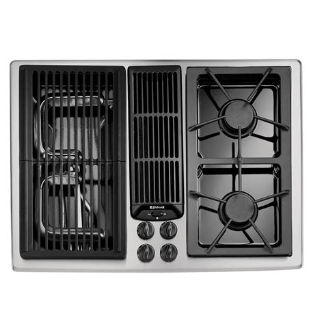 jenn air gas cooktop with downdraft jgd8130ads jenn air 30 quot downdraft gas cooktop stainless