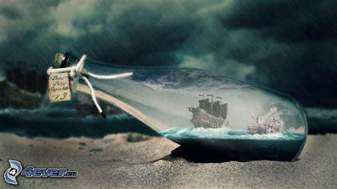segelschiff in einer flasche
