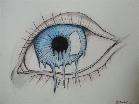 melting eye by brynios on deviantart