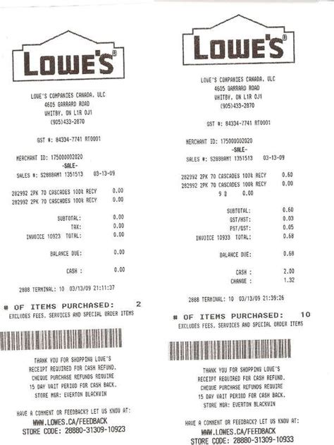 home depot receipts templates home depot receipt template template design pertaining
