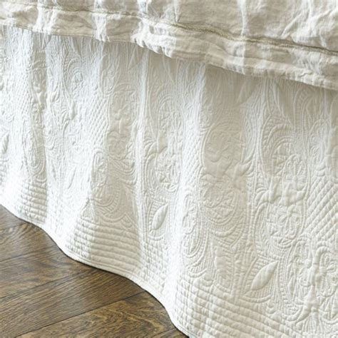 Quilted Bedskirt marin quilted bedskirt traditional bedskirts by