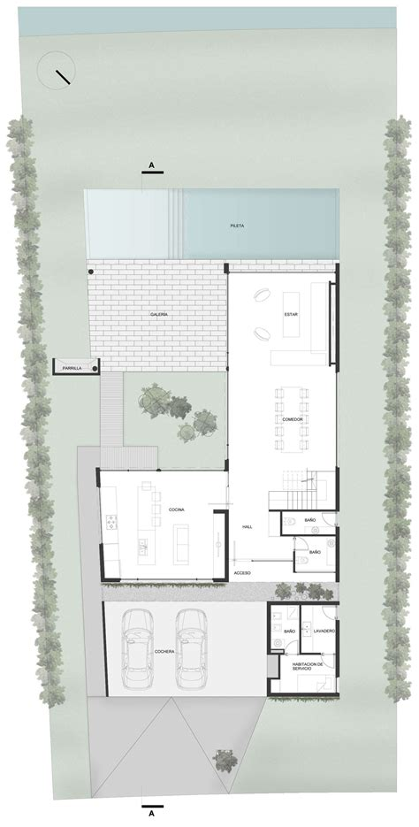 modern floor plans for homes ground floor plan modern house in buenos aires argentina