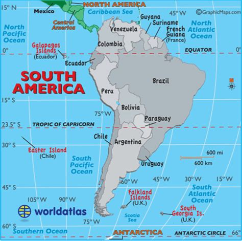 south america map bodies of water south america other maps