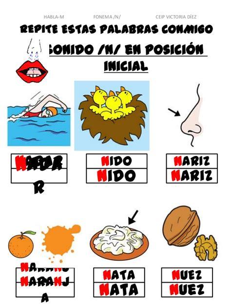 imagenes y palabras con n proyecto habla m fonema n ppt