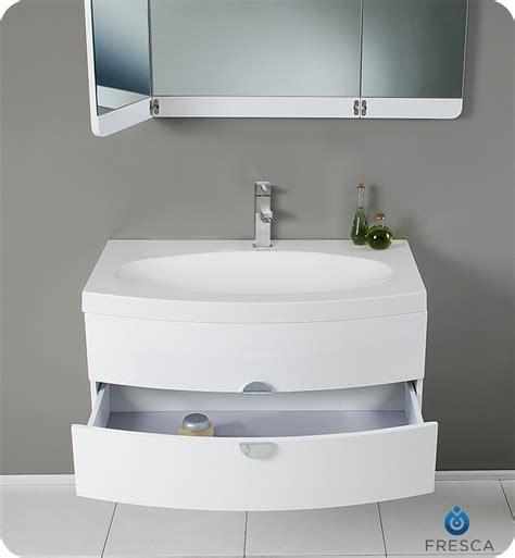 36 energia fvn5092pw white modern fresca fvn5092pw energia 36 quot white modern bathroom vanity