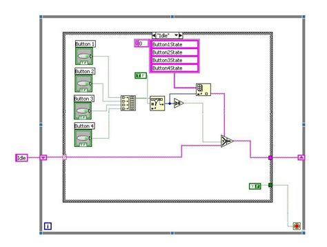labview design pattern learn labview 0018 gui button state machine