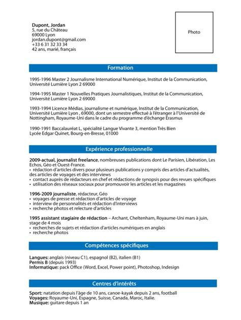 Cv Template Francais by How To Write A Great Cv Working In
