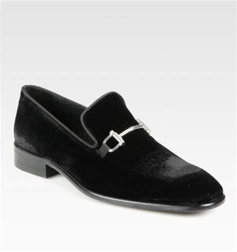 mens black velvet loafers saks fifth avenue bitdetailed velvet loafers in black for